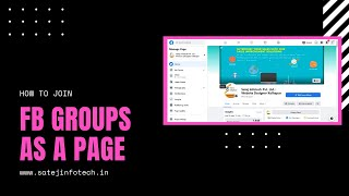 How to join Facebook Group as a Business Page