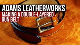 Making a Leather Gun Belt