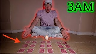 (SCARY) THE CARD GAME RITUAL GONE WRONG AT 3AM CHALLENGE!