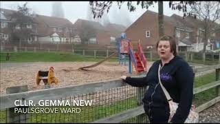 Cllr Gemma New - better community facilities and refreshing existing play parks.