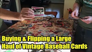 Buying a Large Haul of Vintage Baseball and Non Sport Cards for $8