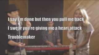 Troublemaker - Max Schneider & Jordan Pruitt cover (Lyrics)