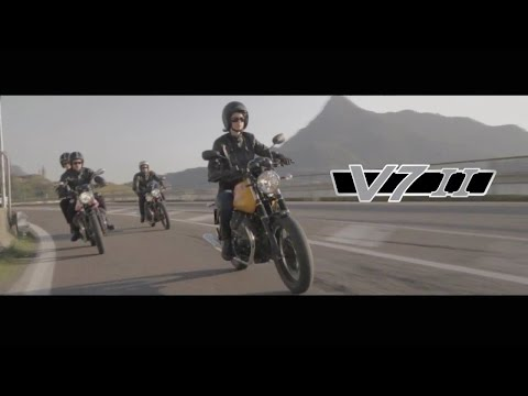 Moto Guzzi V7 II with Ewan McGregor, 2015 official
