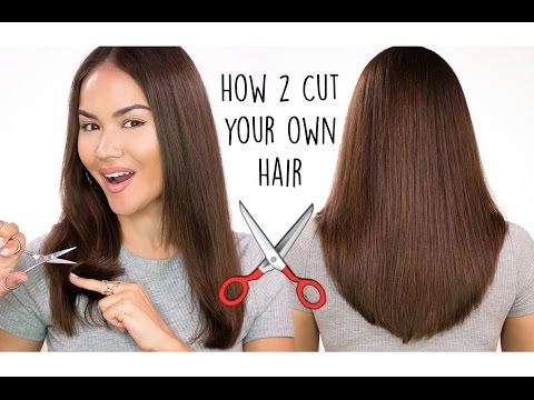 How To Cut Your Own Hair l DIY HAIRCUT TUTORIAL | Maryam Maquillage