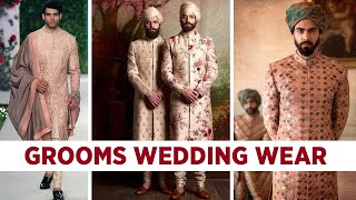 Groom Wedding Wear - Indian Grooms Outfit For Wedding, Mehendi, Reception, Party Look