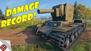World of Tanks - KV-2 DAMAGE RECORD! (WoT KV-2 gameplay)
