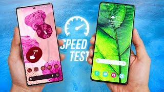 Google Pixel 6 Pro vs Samsung Galaxy S21 Ultra 5G - Speed Test