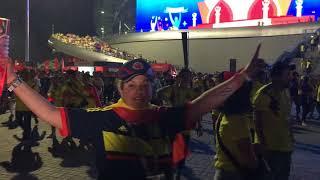 Болельщики сборной Колумбии ликуют в Казани