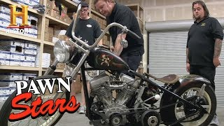 Pawn Stars: 1951 Panhead Sucker Punch Sally Bike (Season 8) | History