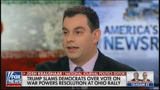 """National Journal's Josh Kraushaar: Democrats Are """"Betting"""" On Iran Situation Going South"""