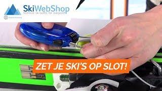 Safeman antidiefstal skislot/snowboardslot, blauw
