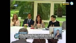 Visión 7 Cristina Llamó A Los Industriales A Cuidar El Modelo De País