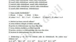 fizika 8 ksq 5 cavablarla tam dəqiq