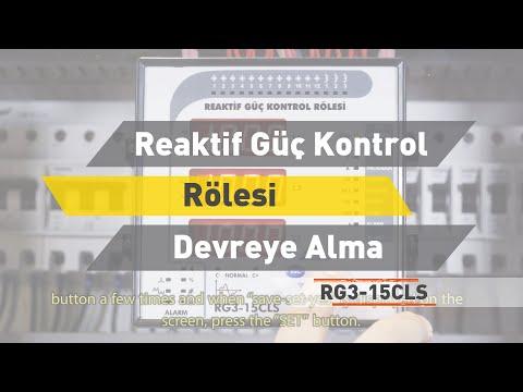 RG3-15 CLS Reaktif Güç Rölesi - Devreye Alma