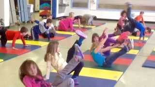 Elementary Gymnastics Warm Ups, Animal Walks and Forward Roll UMS PE