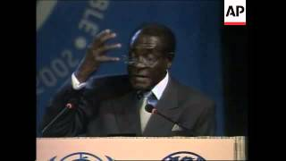 Mugabe's Address To Earth Summit
