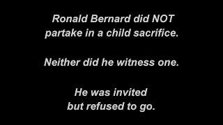Ronald Bernard did NOT partake in / witness a child sacrifice
