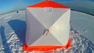 Зимняя палатка стэк куб 2 двухслойная
