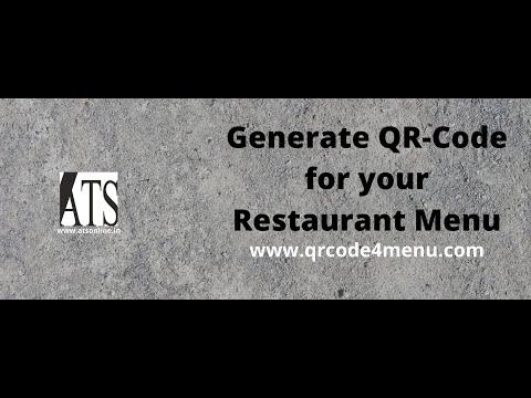 Digital QR-Code Menu for Restaurants