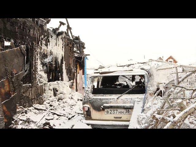 Дома сгорели вместе с автомобилями