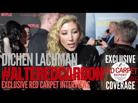 Dichen Lachman interviewed at Premiere of Netflix's #AlteredCarbon #NowStreaming #AltCarb