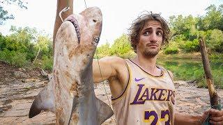 澳洲真的有河鲨鱼吗?饥饿小哥在求生时抓住了一条!【第八集】