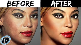 Top 10 Celebrities Before And After Photoshop