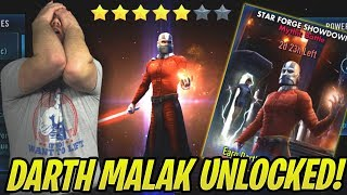 Darth Malak Unlocked! Light Side Strategy Guide! 2 Zetas/No Mission | Star Forge Showdown | SWGoH