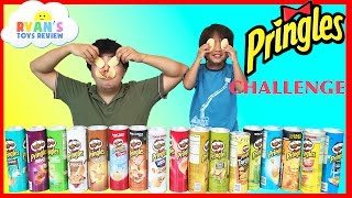 PRINGLES CHALLENGE! Potato Chip Flavors Tasting Contest Ryan ToysReview
