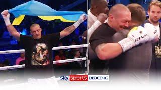 Oleksandr Usyk's emotional reaction after beating Anthony Joshua 🇺🇦