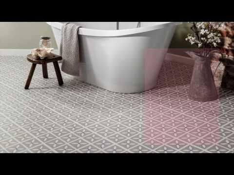 Bathroom Flooring Ideas   Beautiful Luxury Vinyl Flooring Designs