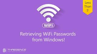 How to retrieve WiFi password in Windows   بدست آوردن پسورد وایفای از طریق ویندوز
