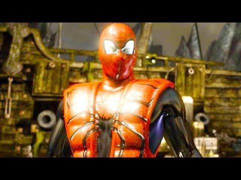 Mortal Kombat XL - Iron Spider Triborg Costume Skin Mod