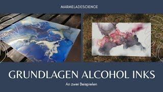 Grundlagen Alcohol Inks In Echtzeit | Basics Alcohol Ink Art In Real Time