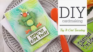 Try It Out Tuesday | Elizabeth Crafts Parrot Wobble Card
