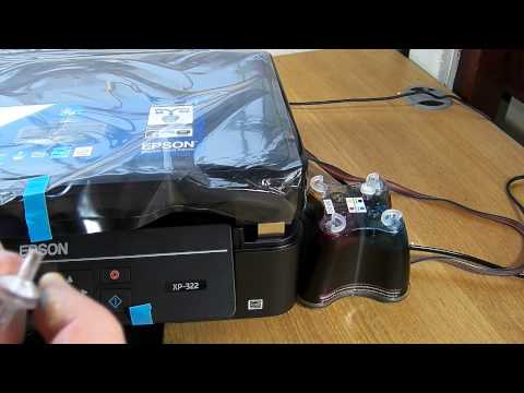 Ciss continuous ink system fits Epson XP-322. XP-325 printer