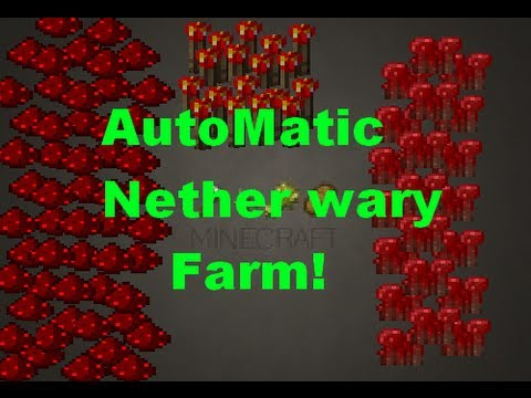 minecraft how to build a nether wart farm