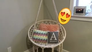 HANG A SWING IN YOUR BEDROOM!!  HAMMOCK CHAIR, MACRAME SWING!