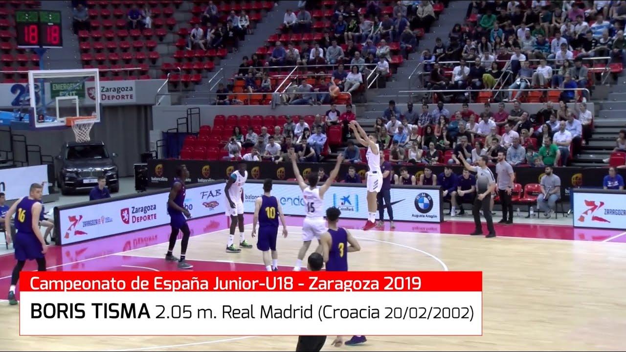 BORIS TISMA (´02)  2.05 m. Highlights. Nuevo jugador del 1º equipo de Real Madrid (BasketCantera.TV)