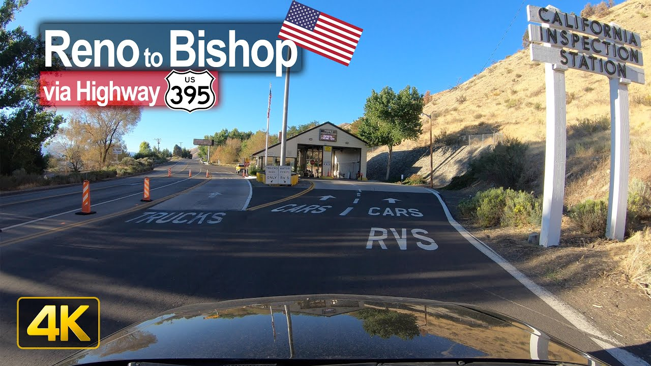 USA Road Trip – Reno NV to Bishop CA in 4K