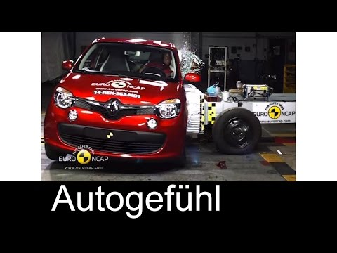 Renault Twingo crash test with Euro NCAP 4 star rating - Autogefühl