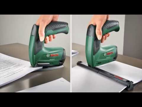 Tutorial: Akku-Tacker PTK 3,6 LI Office Set von Bosch