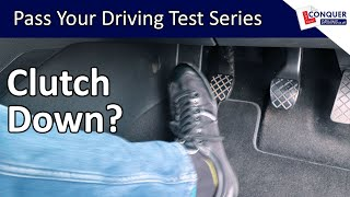 When to press the clutch down in a manual car
