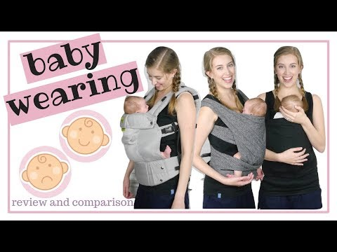 Baby Carriers Try On and Review [2018] | Boppy Lalabu Lille Baby