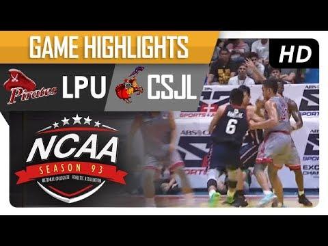 LPU Pirates vs. CSJL Knights | NCAA 93 | MB Game Highlights | August 18, 2017