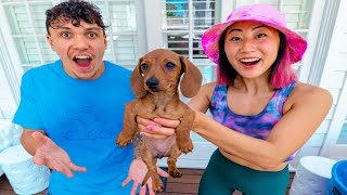 SURPRISING MY CRUSH WITH A PUPPY!!