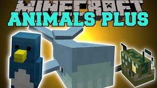 Minecraft: ANIMALS PLUS (KILLER SHARKS, POISONOUS SNAKES, PIRANHAS, & MORE!) Mod Showcase
