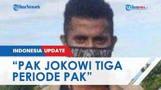 Teriak Minta Jokowi 3 Periode, Pria di Flores Berhasil Hentikan Presiden dan Diberi Jaket Miliknya