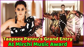 Taapsee Pannu Glamorous Entry At Mirchi Music Award