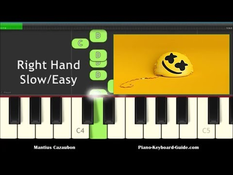 Piano Notes For Happier by Marshmello ft. Bastille - Right Hand